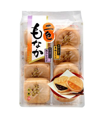 Japanese snacks - 天惠二色最中-栗子&紅豆-8入