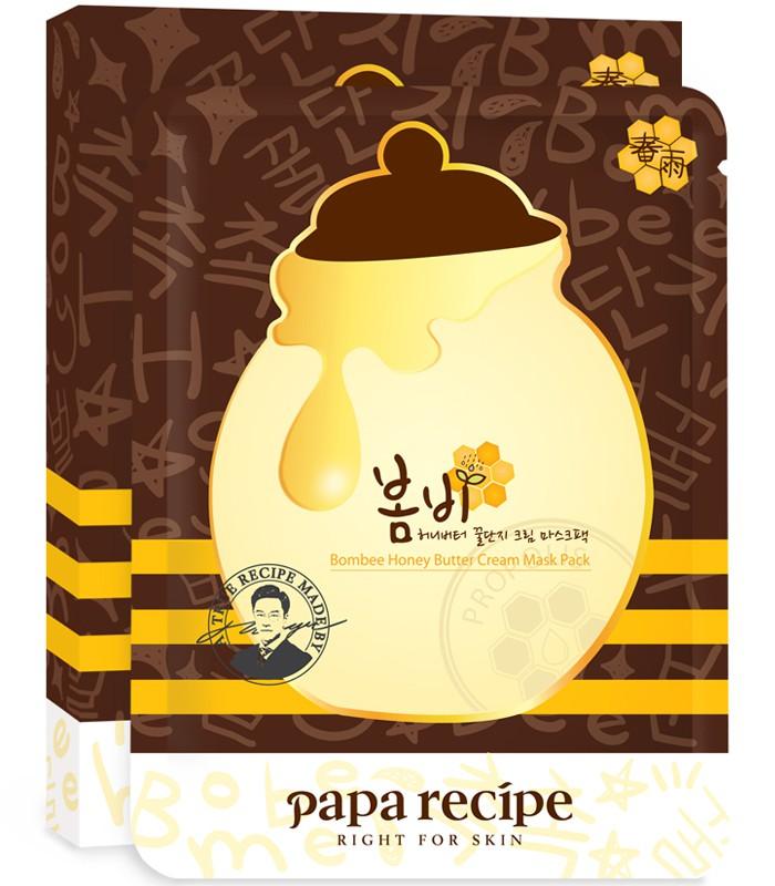 Papa recipe - papa recipe春雨奶油蜂蜜補水亮白面膜-5枚