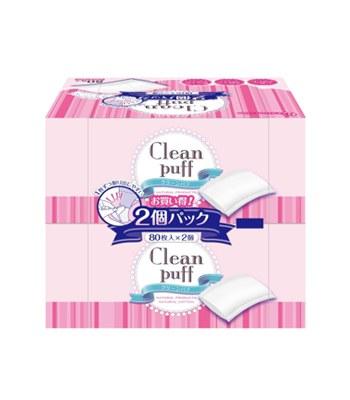 SELENA - Clean Puff 淨顏化妝棉-80枚*2
