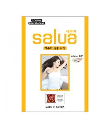 SALUA - SALUA 冰絲肩帶背心內衣-黑色-1入