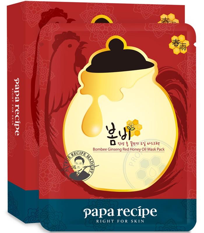 Papa recipe - papa recipe春雨紅蔘面膜-10枚