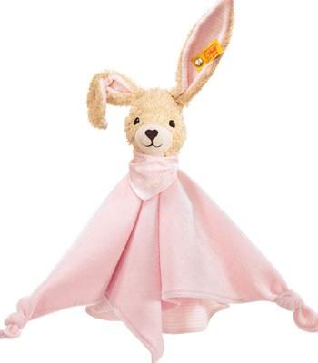 Steiff - 安撫巾-粉紅兔-1入