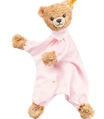 Steiff - 安撫巾-粉紅熊-1入
