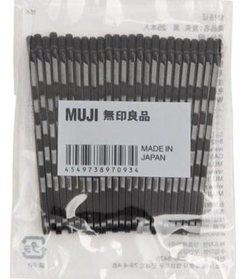MUJI (品牌85折) - 髮夾/黑-25入