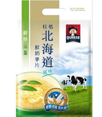 QUAKER - 北海道鮮綠抹茶鮮奶麥片-28gx12入