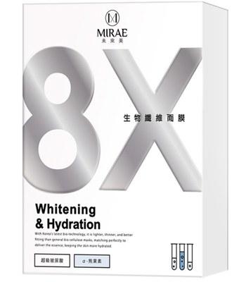 Mirae - 8X煥白生物纖維面膜-3入