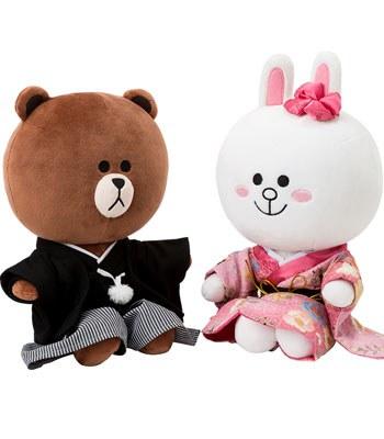 LINE - 結婚情侶娃娃-日本和服-1入