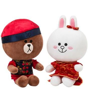 LINE - 結婚情侶娃娃- 中式禮服-1入