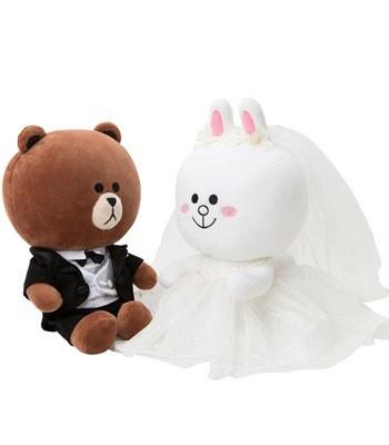 LINE - 結婚情侶娃娃- 白紗禮服-1入