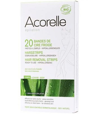 Acorelle - 蘆薈蜂蠟低敏除毛貼片組-一組