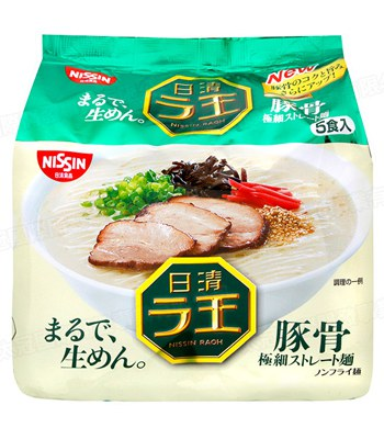 MyHuo Recommended Snacks - 拉王豚骨麵-5包/袋