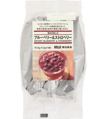 MUJI - 果粒沖泡飲(藍莓&草莓)-4.2gx4