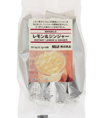 MUJI - 果粒沖泡飲(檸檬&薑汁)-5.1gx4