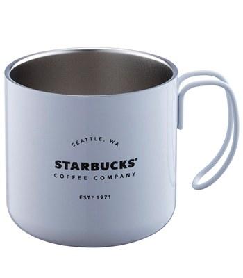 Starbucks Corporation - 12OZ WHITE不鏽鋼把手杯-1入