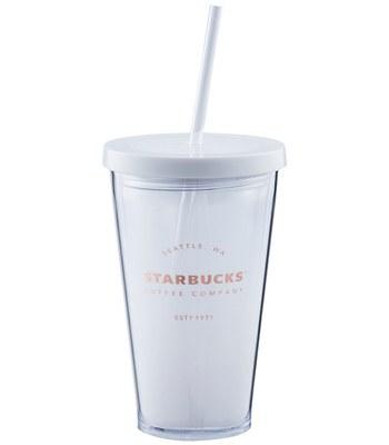 Starbucks Corporation - 16OZ 白HERITAGE Togo冷水杯-1入