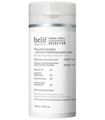 belif - 石楠花水光亮采泡泡潔顏面膜-100ml
