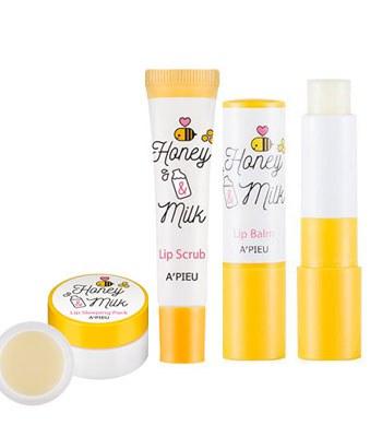 Apieu - 蜂蜜牛奶美唇3步驟-1組