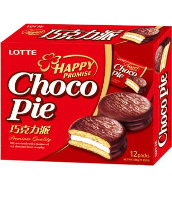 LOTTE - 巧克力派-12入