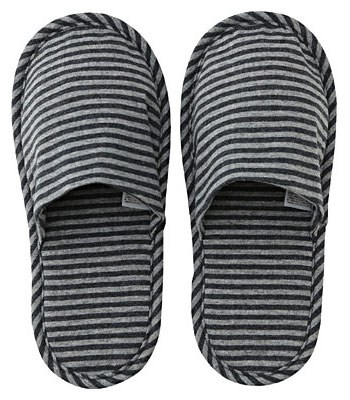 MUJI - 棉天竺薄型拖鞋