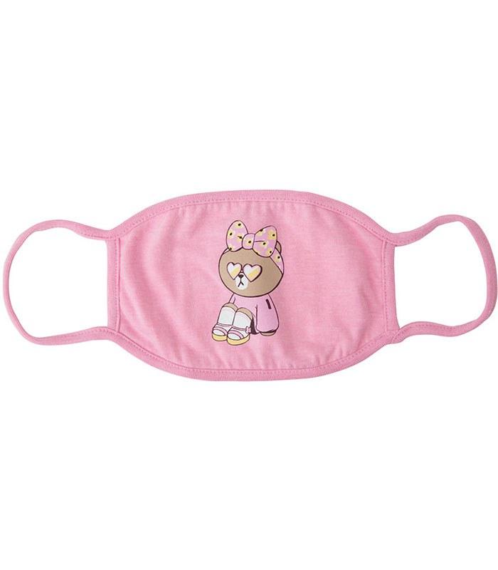 LINE - 粉紅絲帶CHOCO時尚口罩-1入