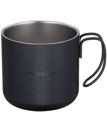 Starbucks Corporation - 12OZ 黑不鏽鋼把手杯-1入