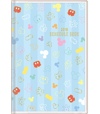 Japan buyer - 滿版米奇標誌造型2018年曆-1入