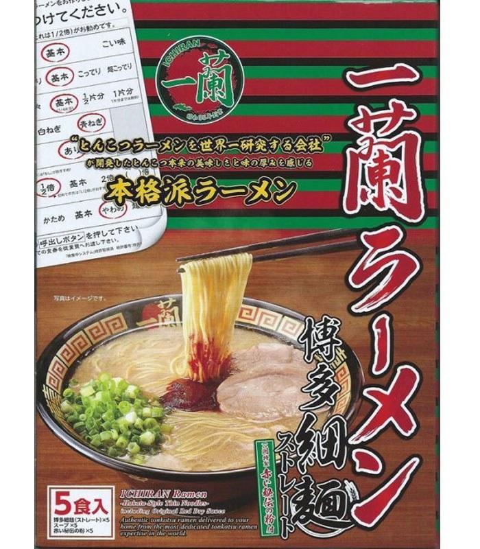 Japanese snacks - 日本一蘭拉麵博多直麵-5入