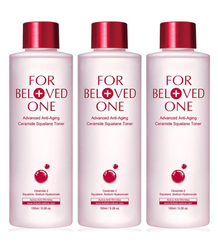 FOR BELOVED ONE - 2017週年慶 - 全能抗皺神經醯胺角鯊化妝水(重量版3瓶組)-1組