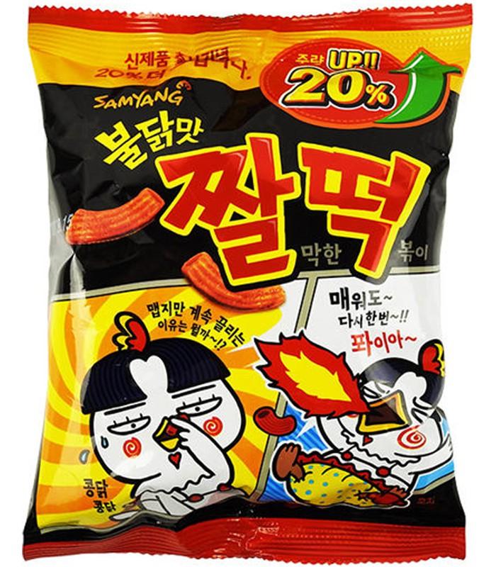異國零食 - 韓國 火辣雞肉風味年糕餅乾-120g