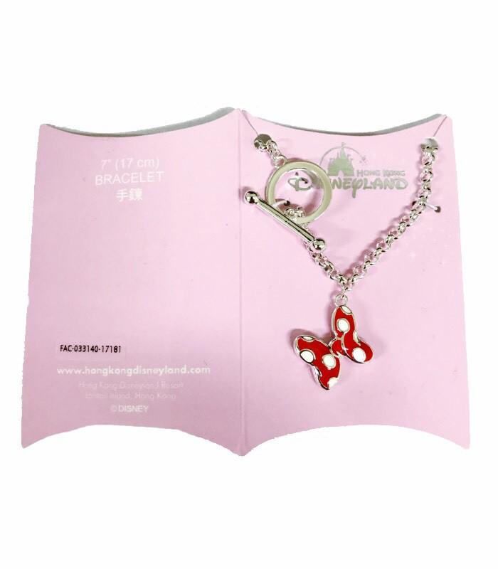 HongKong buyer - 香港迪士尼 Disney- Minnie 米妮蝴蝶結手鍊-17cm