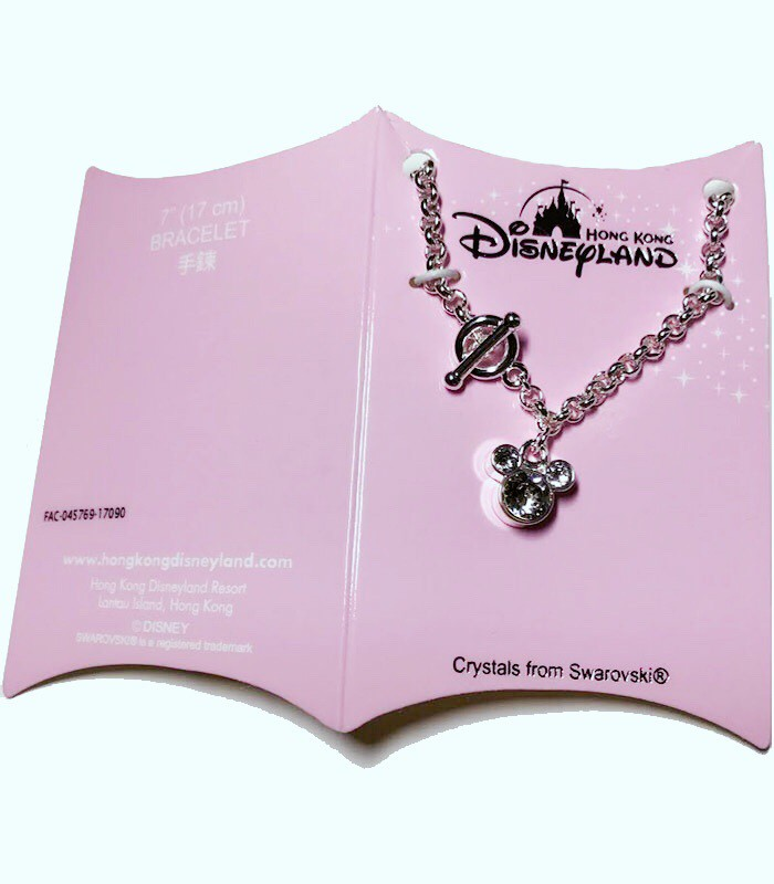 HongKong buyer - 香港迪士尼 Disney- Mickey 米奇閃耀施華洛世奇水晶手鍊-17cm