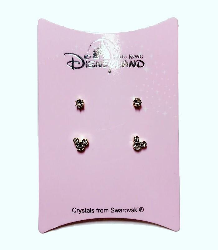 HongKong buyer - 香港迪士尼DisneyMickey 米奇閃耀施華洛世奇水晶耳環組-金色-2對