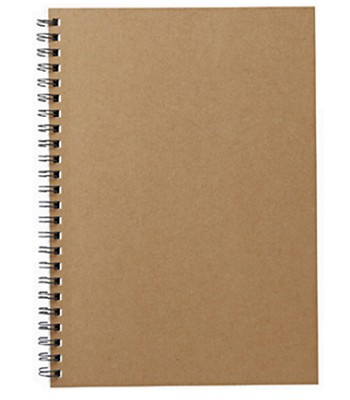 MUJI (品牌85折) - 植林木不易透色雙環筆記本(橫線)-米-1入