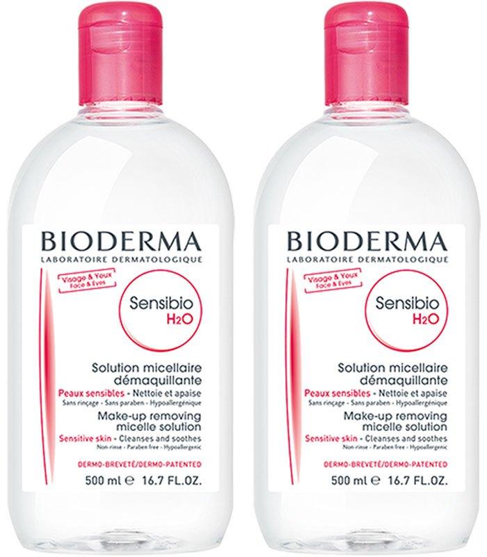 BIODERMA - 新舒高效潔膚液雙罐組(紅)-1組