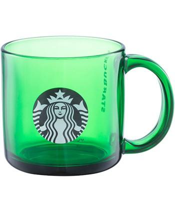 Starbucks Corporation - 綠品牌把手玻璃杯-1入