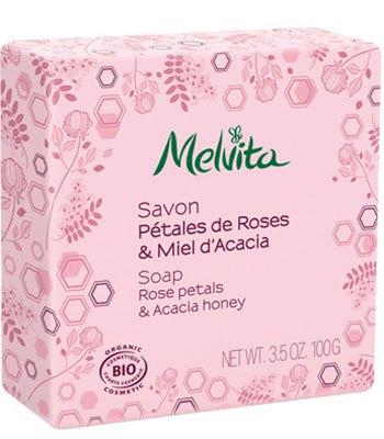 Melvita - 玫瑰槐花蜜沐浴皂-100g