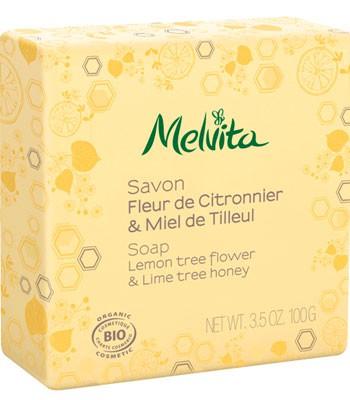 Melvita - 檸檬萊姆花蜜沐浴皂-100g