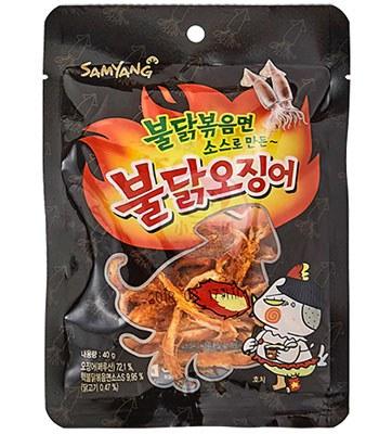 異國零食 - 辣雞風味魷魚絲-40g
