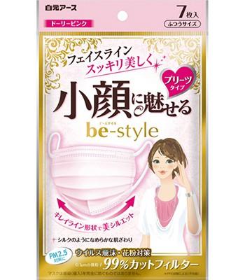 Japan buyer - 白元小顏粉紅色口罩-7入/包