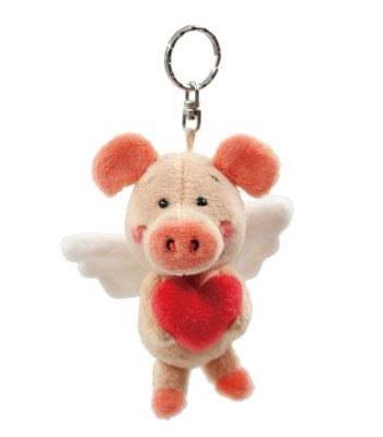 eslite - NICI天使小豬威比鑰匙圈-10X8X8CM