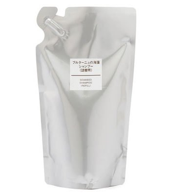 MUJI (品牌85折) - 芬香布列塔尼海藻洗髮精補充包-350ml