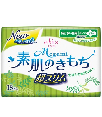 elleair - 愛麗思清爽零感- 27cm日用超薄蝶翼-18片