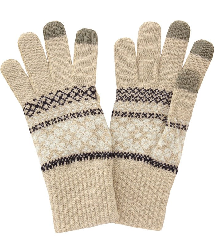 MUJI (品牌85折) - 雪花紋觸控手套