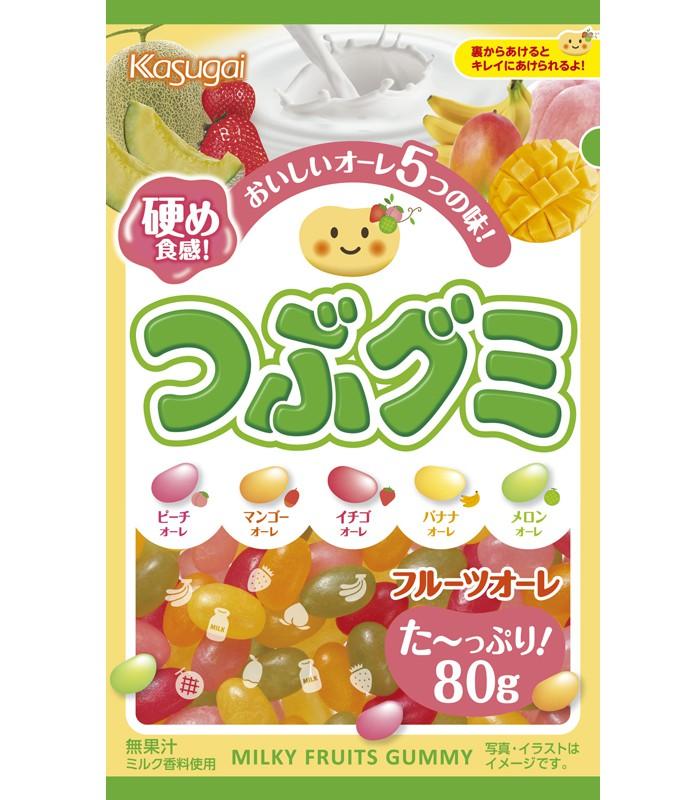 Japanese snacks - 春日井 綜合水果硬軟糖-80g