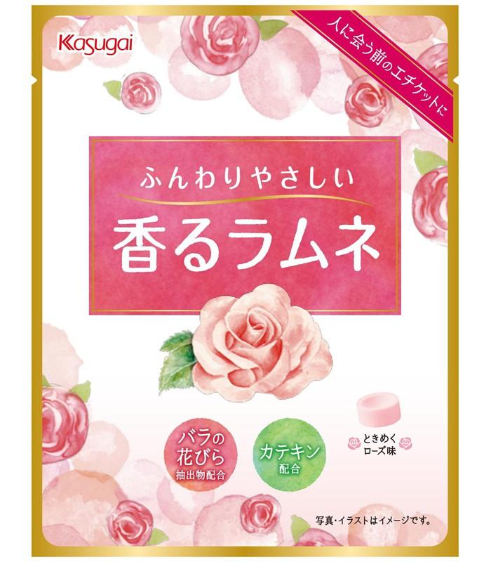 Japanese snacks - 春日井 玫瑰風味汽水糖-34g
