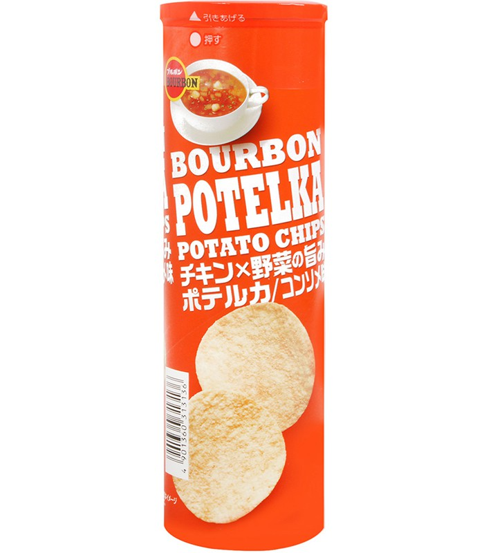 Bourbon - 洋芋片-雞汁清湯-63g