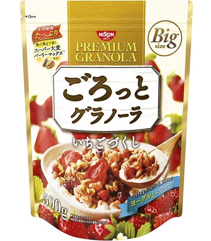 NISSIN - 早餐燕麥片-草莓味-500g-500g