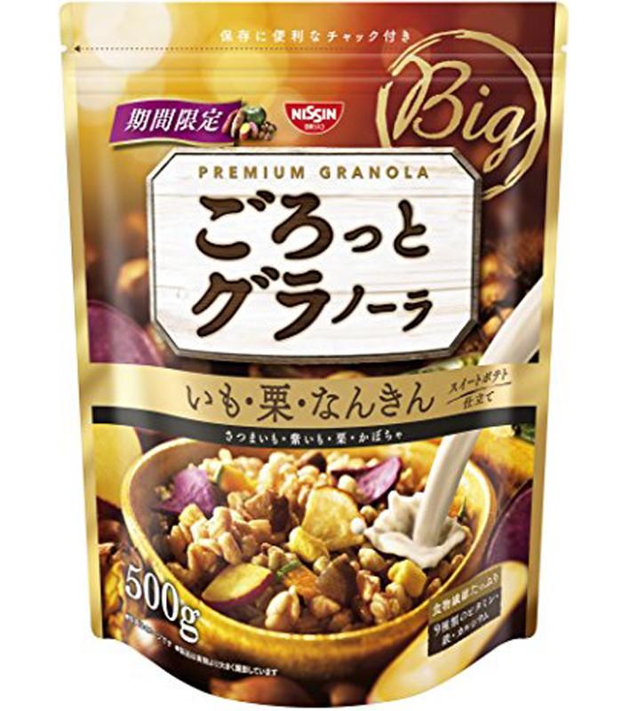 NISSIN - 早餐燕麥片-栗子味-500g