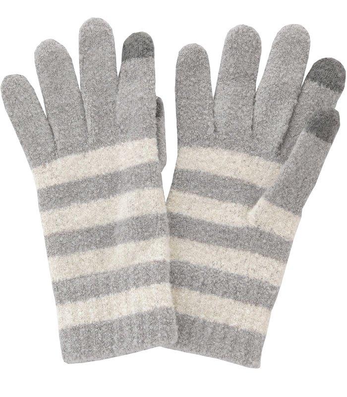 MUJI - 織紋觸控手套-1雙