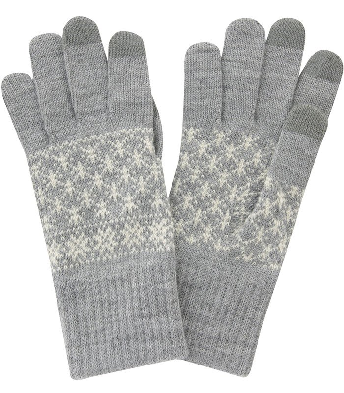 MUJI (品牌85折) - 北歐織紋觸控手套